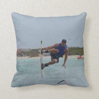 Wakeboarding Grab Throw Pillows