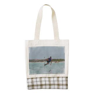 Wakeboarding Grab Zazzle HEART Tote Bag