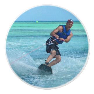 Wakeboarding in the Tropics Ceramic Knob