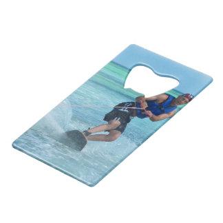 Wakeboarding in the Tropics Credit Card Bottle Opener