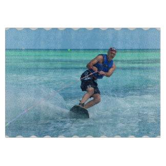 Wakeboarding in the Tropics Cutting Board