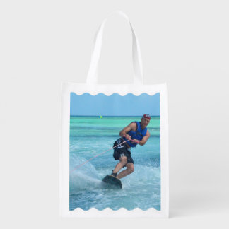 Wakeboarding in the Tropics Grocery Bag