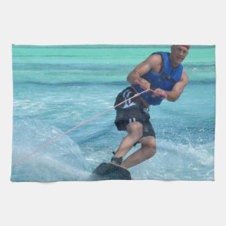 Wakeboarding in the Tropics Hand Towel