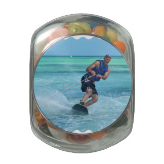 Wakeboarding in the Tropics Jelly Belly Candy Jars