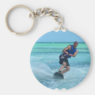 Wakeboarding in the Tropics Keychain