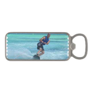 Wakeboarding in the Tropics Magnetic Bottle Opener