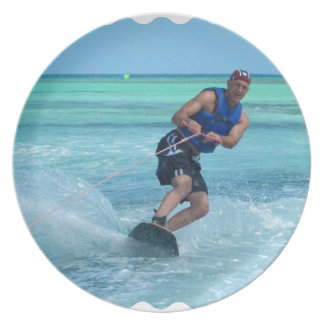 Wakeboarding in the Tropics Melamine Plate