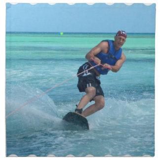 Wakeboarding in the Tropics Napkin