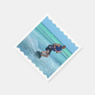 Wakeboarding in the Tropics Paper Napkin