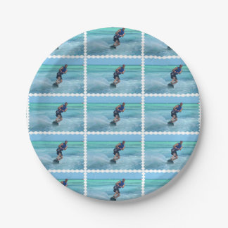 Wakeboarding in the Tropics Paper Plate