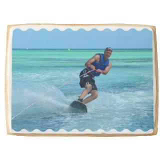 Wakeboarding in the Tropics Shortbread Cookie