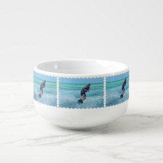 Wakeboarding in the Tropics Soup Mug