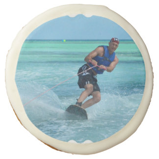 Wakeboarding in the Tropics Sugar Cookie