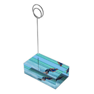 Wakeboarding in the Tropics Table Card Holder