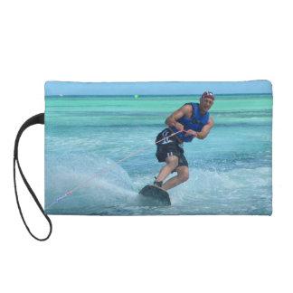 Wakeboarding in the Tropics Wristlet Purse