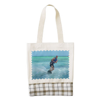 Wakeboarding in the Tropics Zazzle HEART Tote Bag