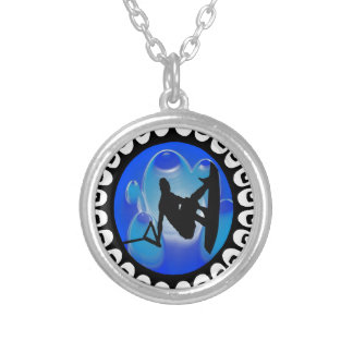 WAKEBOARDING IS FREEDOM SILVER PLATED NECKLACE