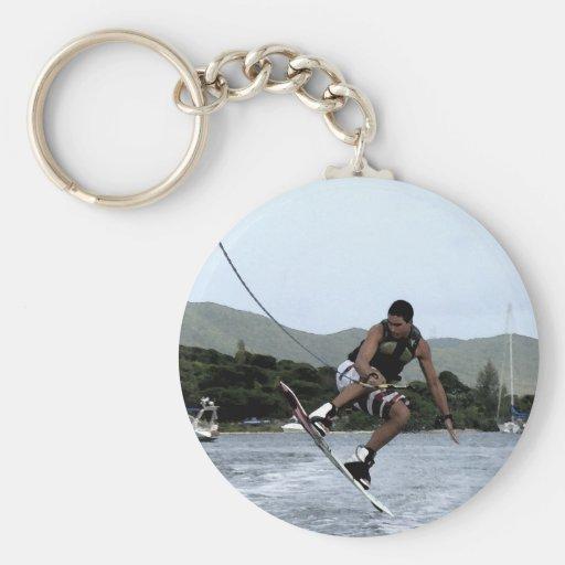 Wakeboarding Keychain
