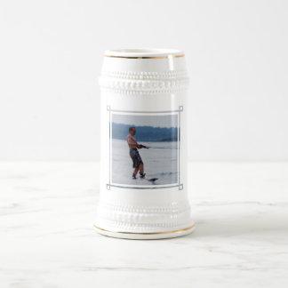 Wakeboarding on Ocean Beer Stein Coffee Mugs