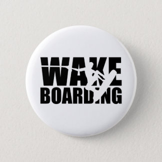 Wakeboarding Pinback Button