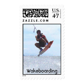Wakeboarding Postage Stamp