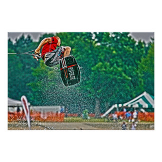 Wakeboarding Poster-Airborne