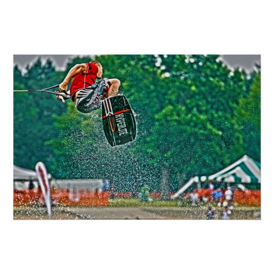 Wakeboarding Poster-Airborne Poster
