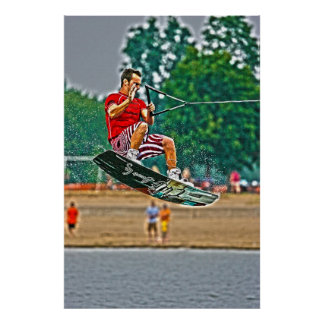 Wakeboarding Poster-Jumping