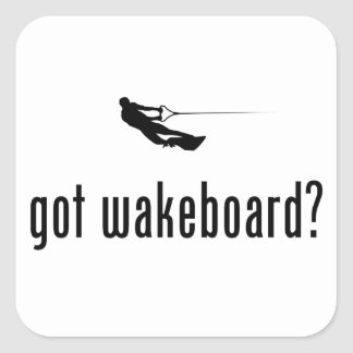 Wakeboarding Square Sticker