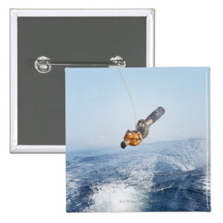 Wakeboarding Stunt 2 Inch Square Button