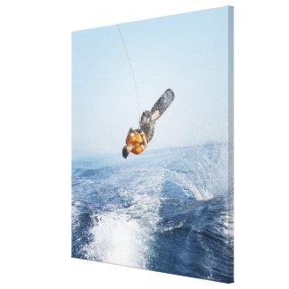 Wakeboarding Stunt Canvas Print