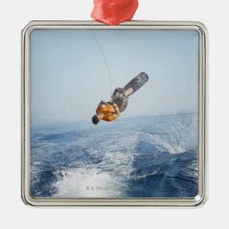 Wakeboarding Stunt Metal Ornament