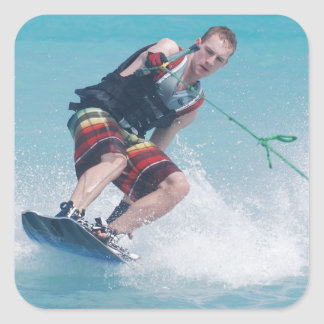 Wakeboarding Tail Grab Square Sticker