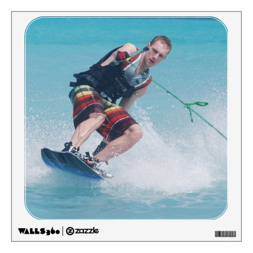 Wakeboarding Tail Grab Wall Sticker