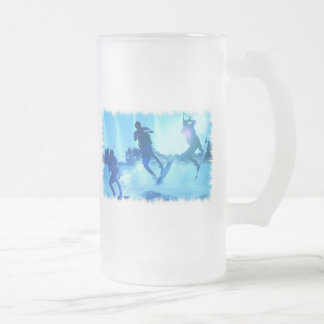Wakeboarding Trio Frosted Beer Mug