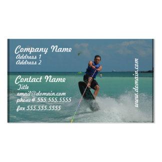 Wakeboarding tropical plantillas de tarjetas personales