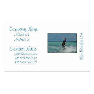 Wakeboarding tropical tarjetas personales