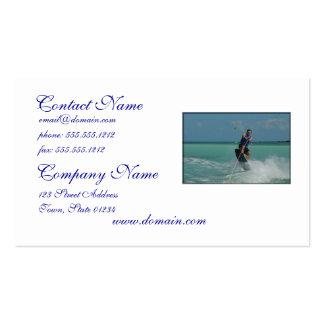 Wakeboarding tropical tarjeta de visita