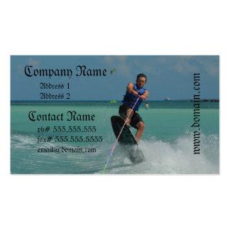 Wakeboarding tropical tarjetas de negocios