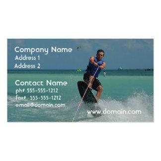 Wakeboarding tropical tarjetas de visita
