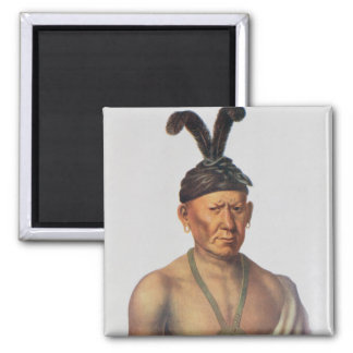 Wakechai or 'Crouching Eagle', a Sauk Chief Magnet