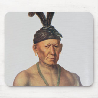 Wakechai or 'Crouching Eagle', a Sauk Chief Mouse Pad