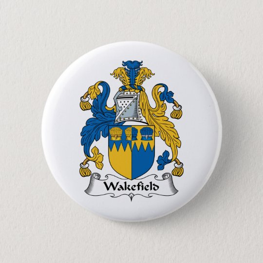 Wakefield Family Crest Pinback Button
