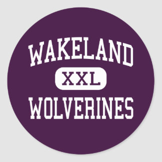 Wakeland - Wolverines - High School - Frisco Texas Classic Round Sticker