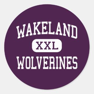 Wakeland - Wolverines - High School - Frisco Texas Classic Round Sticker