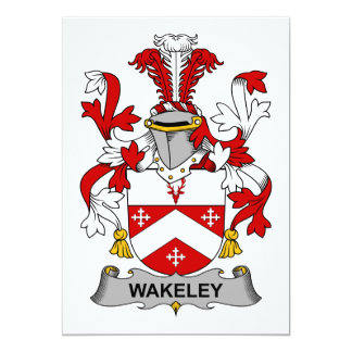 Wakeley Family Crest Card