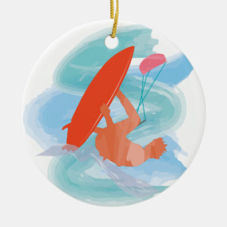 Wakestyle by Shirt to Design Double-Sided Ceramic Round Christmas Ornament