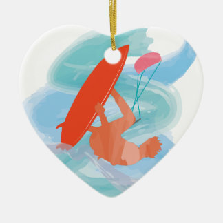 Wakestyle by Shirt to Design Double-Sided Heart Ceramic Christmas Ornament