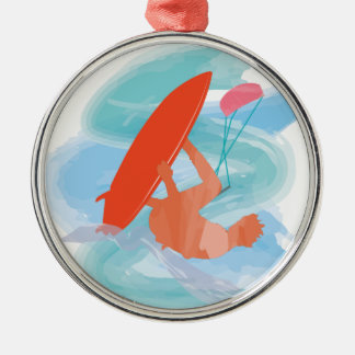Wakestyle by Shirt to Design Round Metal Christmas Ornament