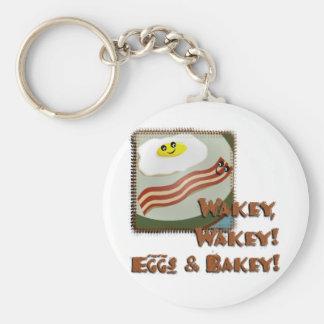 Wakey Eggs & Bakey Basic Round Button Keychain